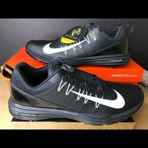 Nike Lunar Command 2 Black White BOA Golf Shoes